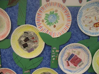 Kids look through magazines to find words they can read. Then they glue them to paper plates to make flowers. Easy to differentiate this activity!