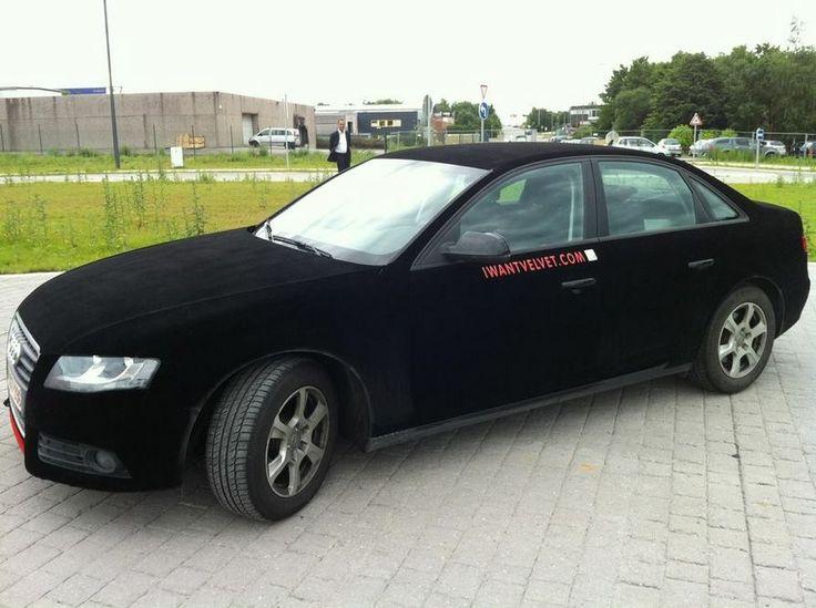 Audi Velvet Vehicle Wrap Tuningfilms Black Wrap Car