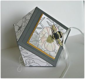 Diamant Box mit Deckel – Envelope Punch Board, Stampin' Up!, SAB 2017, Bastelglanz