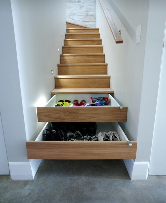if I ever have a stair coded enclosed between walls, THIS storage solution will be present!