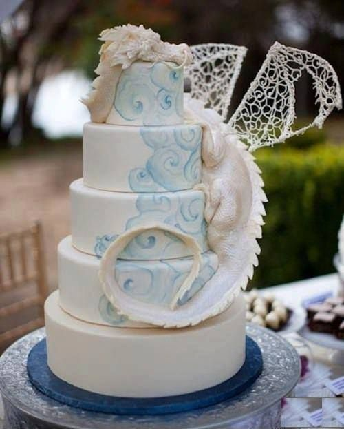 Dragon wedding cake!