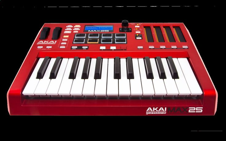 Akai Professional MAX25 25-Key USB MIDI Keyboard Controller with CV and touch faders 25 semi-weighted keys with aftertouch and 4 LED touch faders for hands-on expressiveness 8 MPC pads with MPC Note Repeat, and MPC Swing provide amazing workflow Included AkaiConnect software automatically maps to VST plugins/instruments Read More Here: wachka.com/...