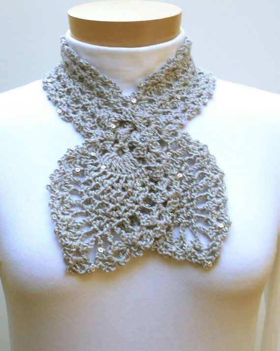 Perfect Keyhole Scarf Crochet Pattern Frieze Easy Scarf Knitting