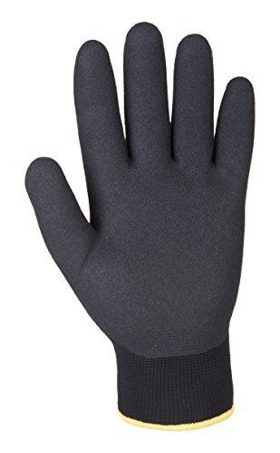 Portwest Arctic Winter Work Glove Warm Keeps Hands Dry Safety Workwear A146 [XXL] [Black] by Portwest
