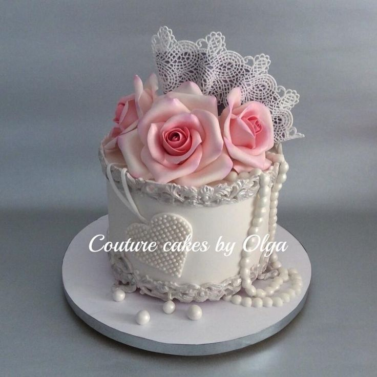 Cake For Her By Couturecakesbyolga 30th Birthday CakesHappy BirthdayShabby Chic