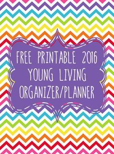 We are super excited to share with you a free printable 2016 Young Living focused organizer/planner. Great gift idea!