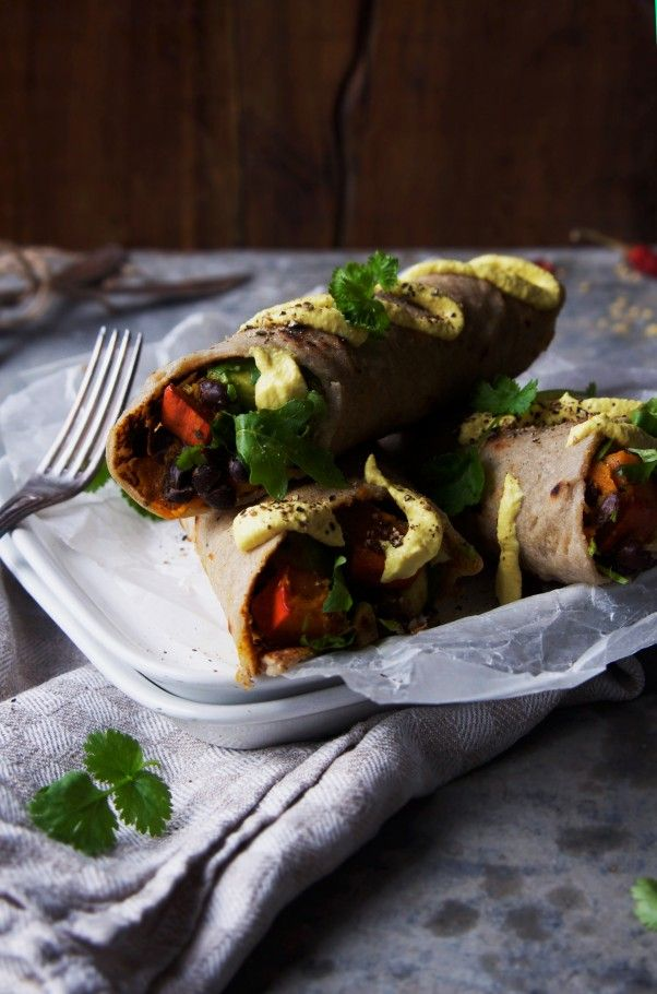 Spiced Pumpkin Burrito with Raw Sour Cream Sauce: sure to make your ...