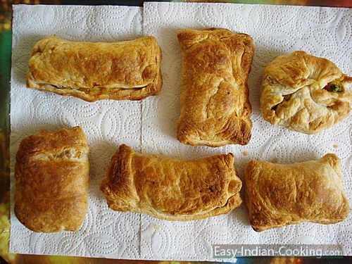 Homemade Baked Vegetable Puffs - Easy Indian Recipes