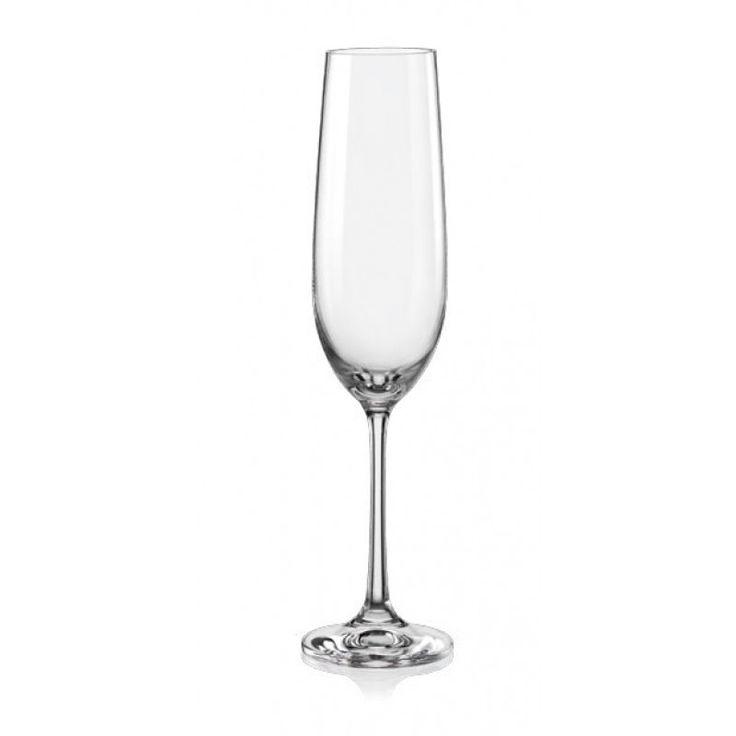 Classic elegance!  Set of 2 crystal champagne flutes