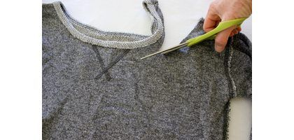 How to Cut a Sweatshirt for an '80s Style | eHow