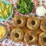 #brunch de Domingo  Amo los bagels!! Los que todavía no probaron la receta yaaa mismo la buscan en el blog porque son muyy ricos!!! #sintacc #singluten #glutenfree #❤️