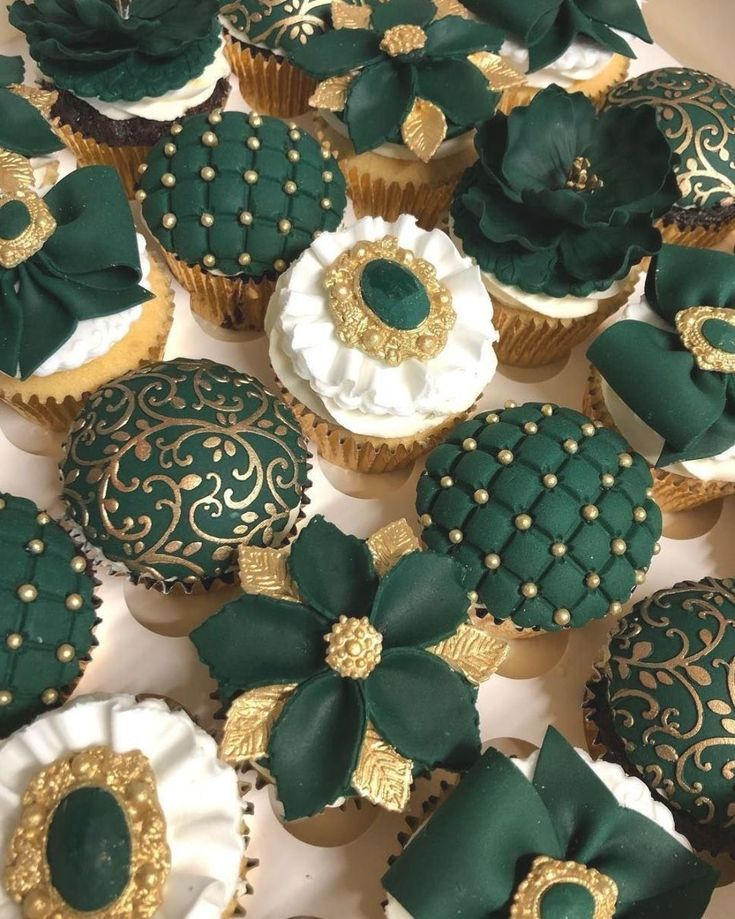 Cakes by hassan on instagram cupcakes in emerald green