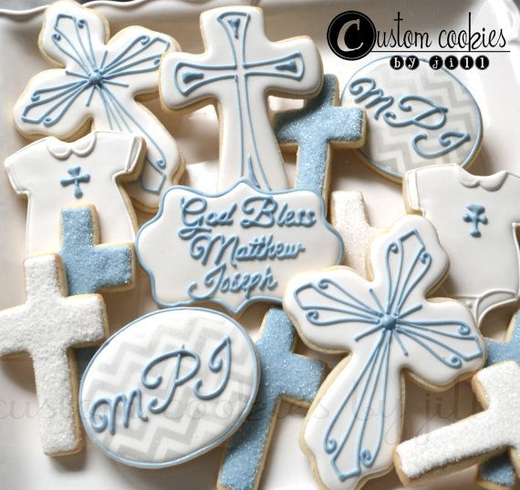 Items similar to Baptism Wedding Christening Cross Cookies 1 dozen on Etsy