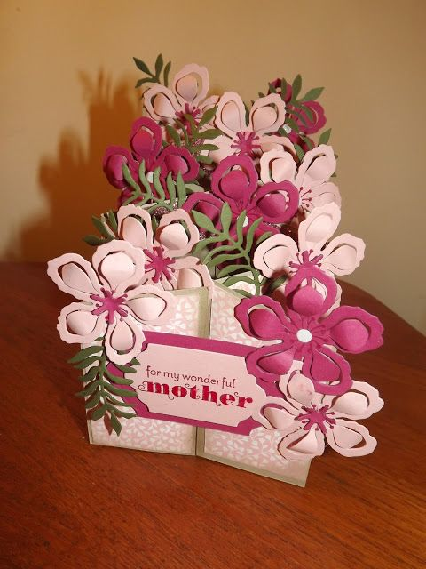 KraftingK Independent Stampin'Up Demonstrator: Botanicals in pink, perfect for Mothers day, fancy fold card.