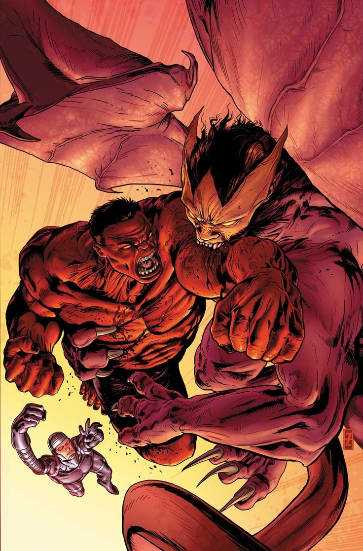 Red Hulk vs Machine Man - Patrick Zircher