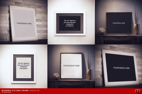 Modern Picture Frame Mock-up by mesmeriseme on Creative Market