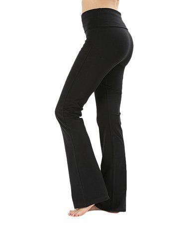 99b738e938 Look at this  zulilyfind! Black Flare Yoga Pants - Women ...
