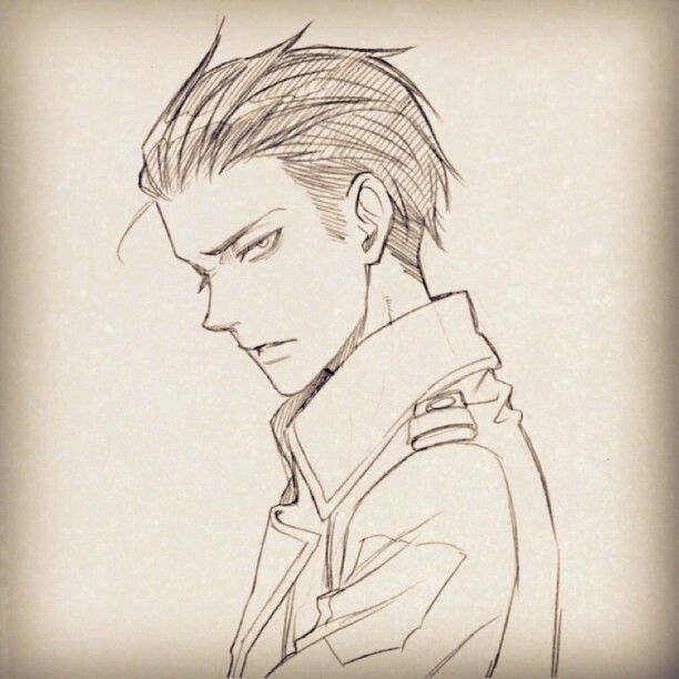 Levi With His Hair Slicked Back In 2020