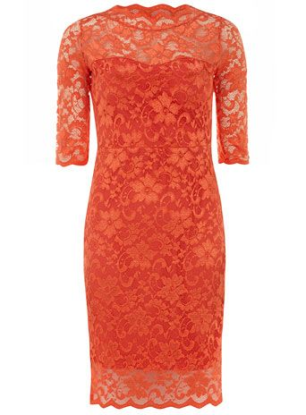 Orange lace dress Also comes in turquoise and royal blue