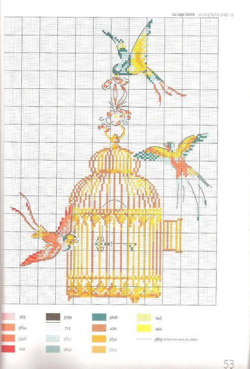 Gallery.ru / Фото #77 - Les oiseaux a broder au point de croix - Marina-Melnik