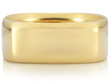ApplesofGold.com - Wide Square Wedding Band in 14K Yellow Gold Jewelry $925.00