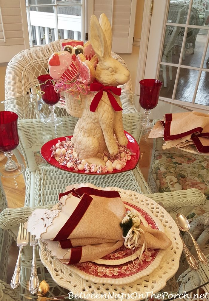 Valentine S Day Table Setting With Vintage Copeland Spode