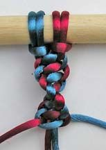 Instructions to DIY 12 basic macrame knots. This one is a Half Knot.