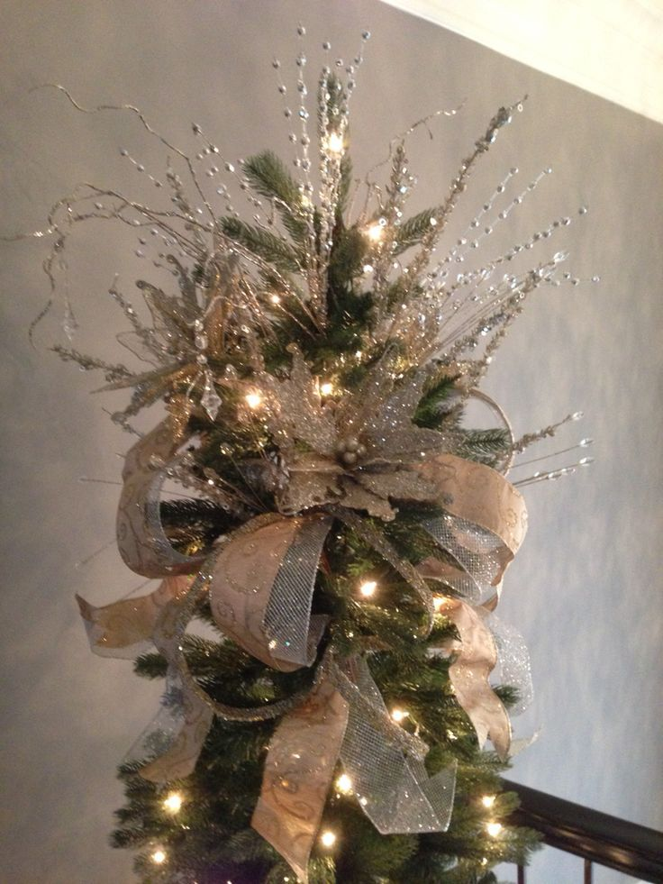 Best 25 Christmas Tree Toppers Ideas On Pinterest Tree Diy Christmas Tree Topper Christmas Tree Bows Christmas Tree Topper Bow