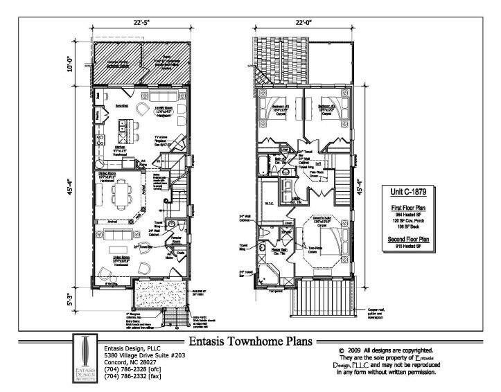 7 best floor plans images on pinterest house design for Townhouse construction plans