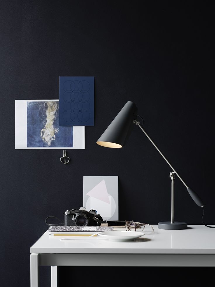Birdy is a table, wall and floor lamp series designed in 1952 by Birger Dahl.