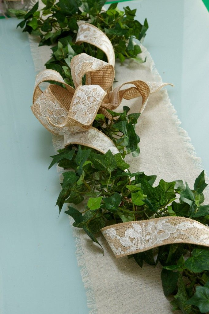 Winter Wedding Table Decoration Garland English Ivy