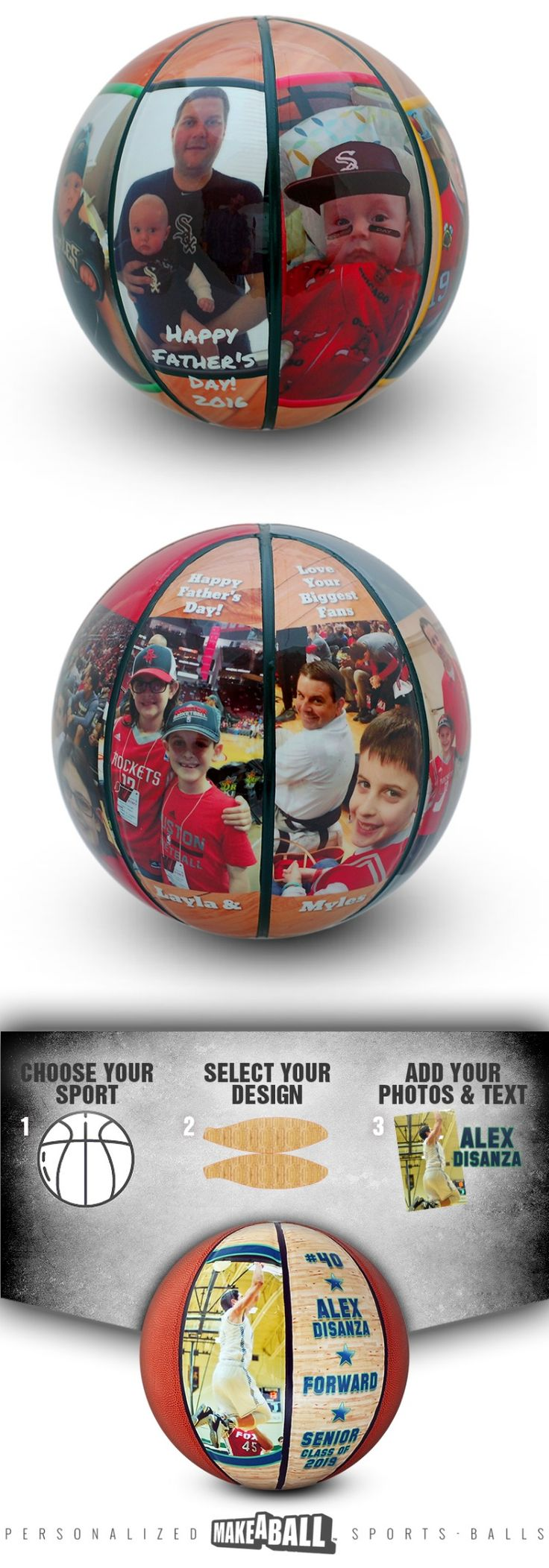 Custom photo basketballs make a great fathers day present