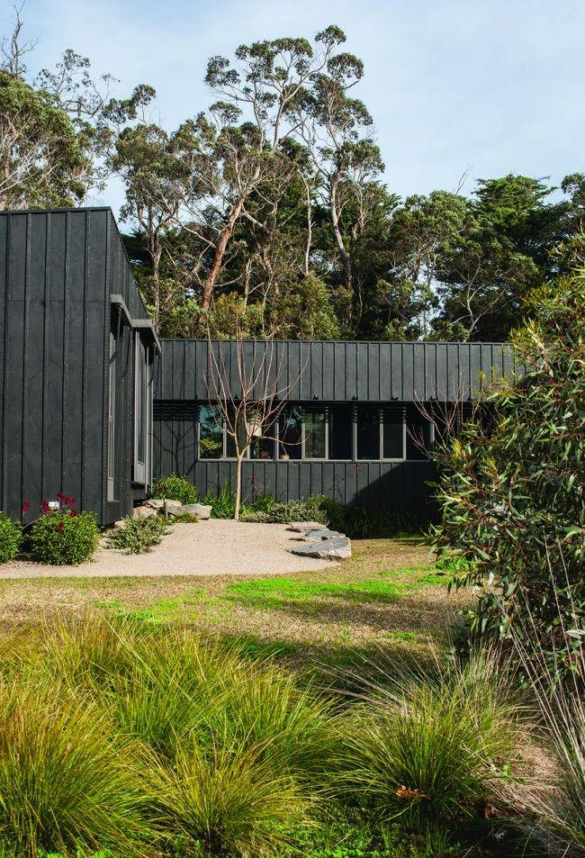 black wooden cladding