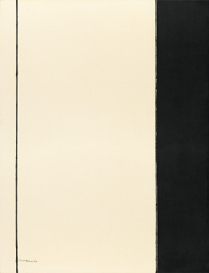 Barnett Newman, Seventh Station, 1964, from the Stations of the Cross series.  Oil on canvas, 198.1 x 152.4 cm (78 x 60 in.), National Gallery of Art, Washington, D.C.