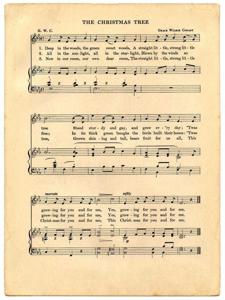 9 Christmas Ephemera Images! Christmas sheet music