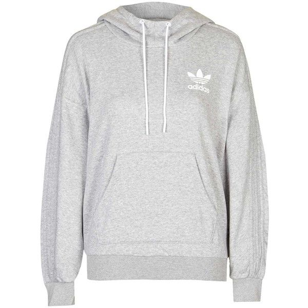 French Bulldog Hoodie by Adidas Originals found on Polyvore featuring tops, hoodies, outerwear, sweaters, grey, sport hoodies, gray top, grey hoodies, sweatshirt hoodies and sports tops