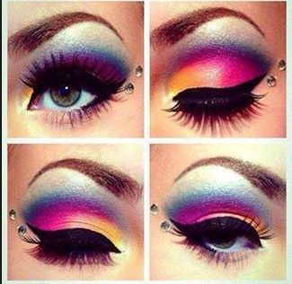 The newest makeup styles are all about the color. Most of my friends do their makeup based off hip and cool pop starts like Cyndi Lauper! Off course my parents won't let me wear that much makeup, or any at all. The main part of the makeup is all about the eyes, eyeliner, mascara, and dark colored eyeshadow. I wish I could wear makeup like that. XOXO Rachel