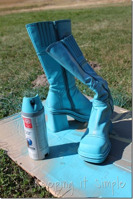 turquoise boots spray forward spray painted boots 3. Black Bedroom Furniture Sets. Home Design Ideas