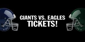Enter Now to Win 4 Tickets to the NY Giants Vs. Philadelphia Eagles game on October 6, 2013, A Signed Jessie Armstead Jersey AND a Parking Pass for the Game!  At Facebook/englewoodcliffscadillac