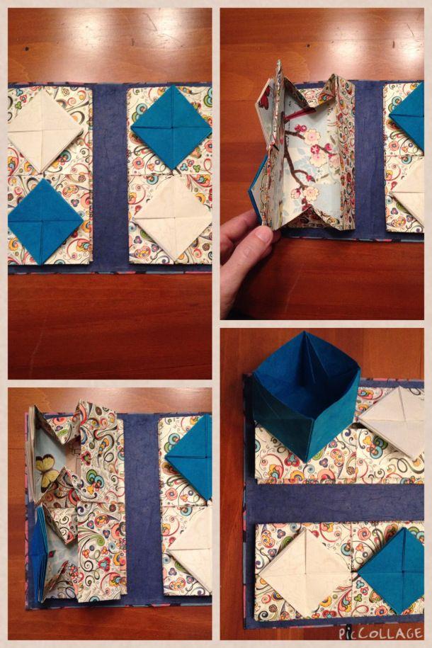 Cajas chinas mágicas con plegado origami, muy bonito como sorpresa  regalarlo como libro  Chinese thread book tutorial