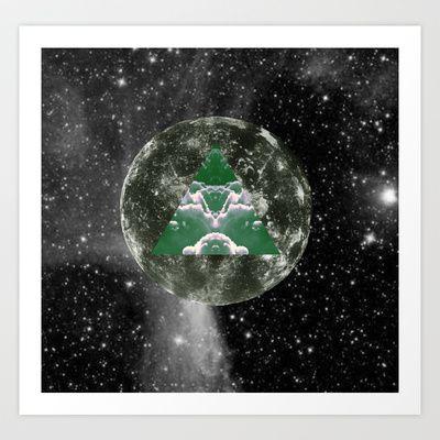 Moon triangle Art Print by TrineSejrup - $13.52