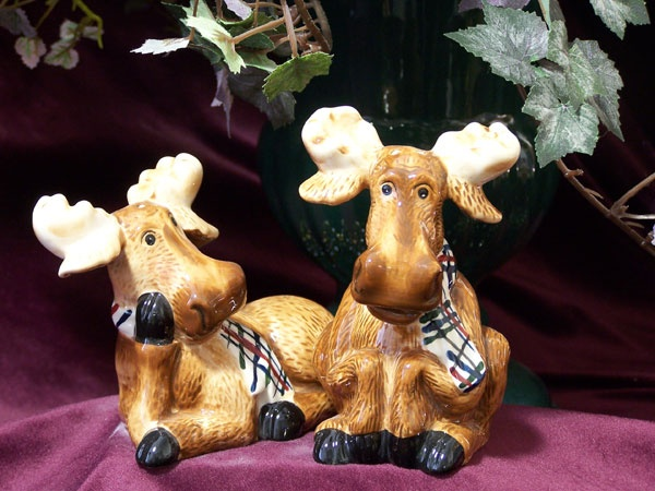 Moose Salt & Pepper Shakers