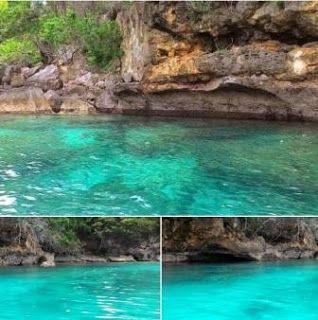 Lokasi Teluk Biru Berada Di Muncar Banyuwangi di Balik Semenanjung Sembulungan, Teluk ini Masih Masuk di Kawasan Taman Nasional Alas Purwo. Masyarakat Sekitar Menyebut Teluk Biru Dengan Sebutan Senggrong atau Selanggrong