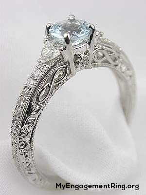 aquamarine filigree engagement ring - My Engagement Ring
