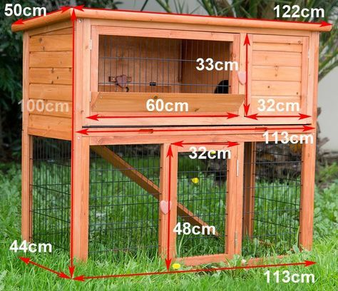 Easy to Build Rabbit Hutch - Bing Images (Rabbit Houses Hutch)