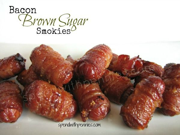 Bacon Brown Sugar Smokies - wasn't sure if I should put this under my sweet treat board or under entrees. LOL