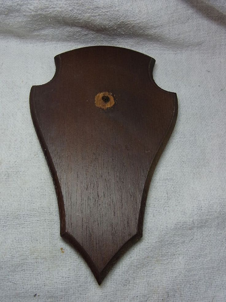 Vintage German Wood Trophy Plaque for Taxidermy / Deer Antler # 6