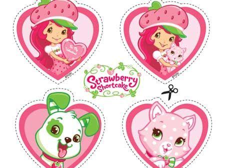 Strawberry shortcake valentine printable
