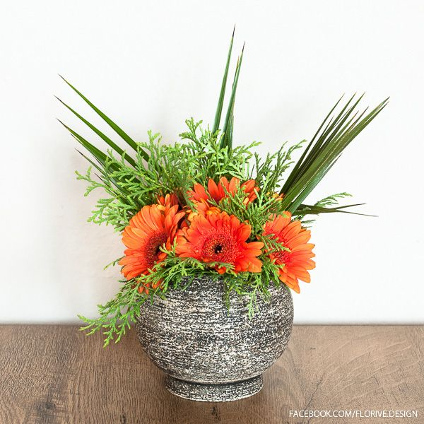 Bouquet in a Stone Vase