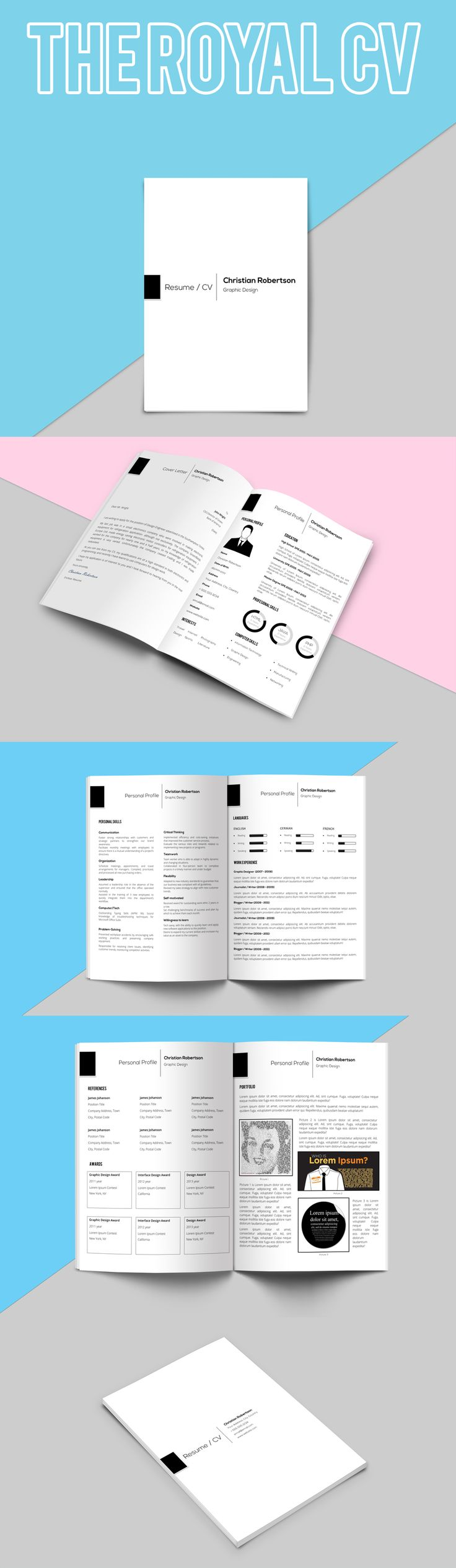 8 page exclusive resume template cover letter for Cosmetology portfolio template